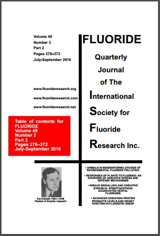 Cover of the latest issue of Fluoride.