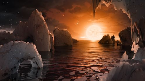 Featured image: Seven Earth-sized planets discovered orbiting a nearby star