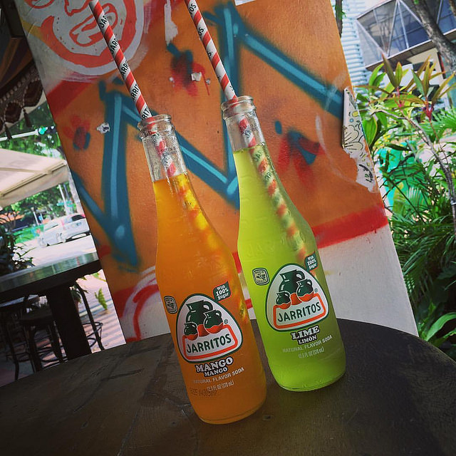 A popular brand of Mexican soda.