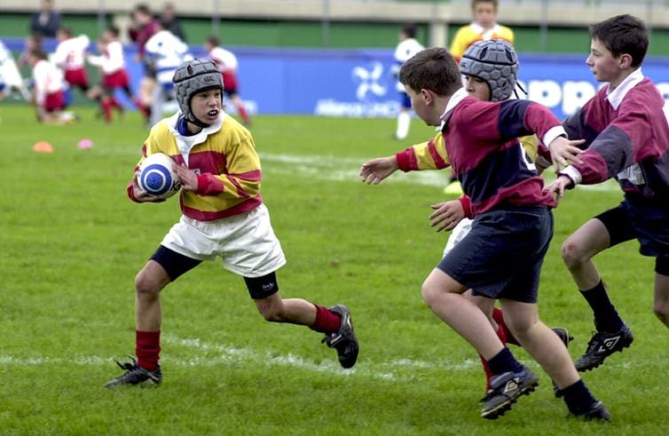 Featured image: Wearing protective headgear in rugby may increase the risk of serious injury – new research