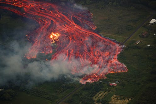 Image: Lava in Hawai'i is reaching the ocean, creating new land but also corrosive acid mist