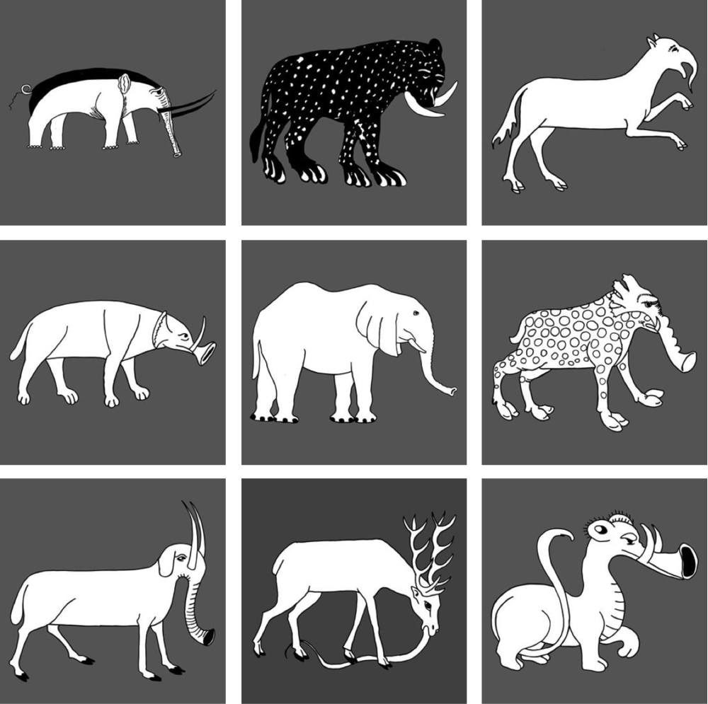Selection of elephant images from the middle ages (900-1500 AD). Source: Uli Westphal