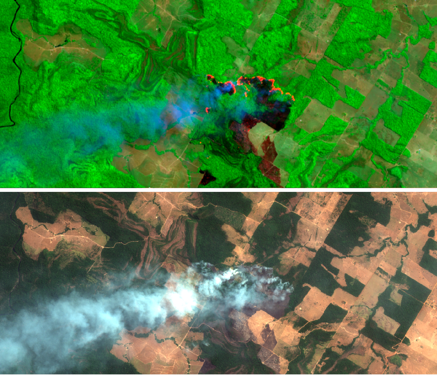 Featured image: The fires in Brazil in satellite imagery: Part 1