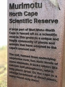 Sign indicating an area of land that is a scientific reserve