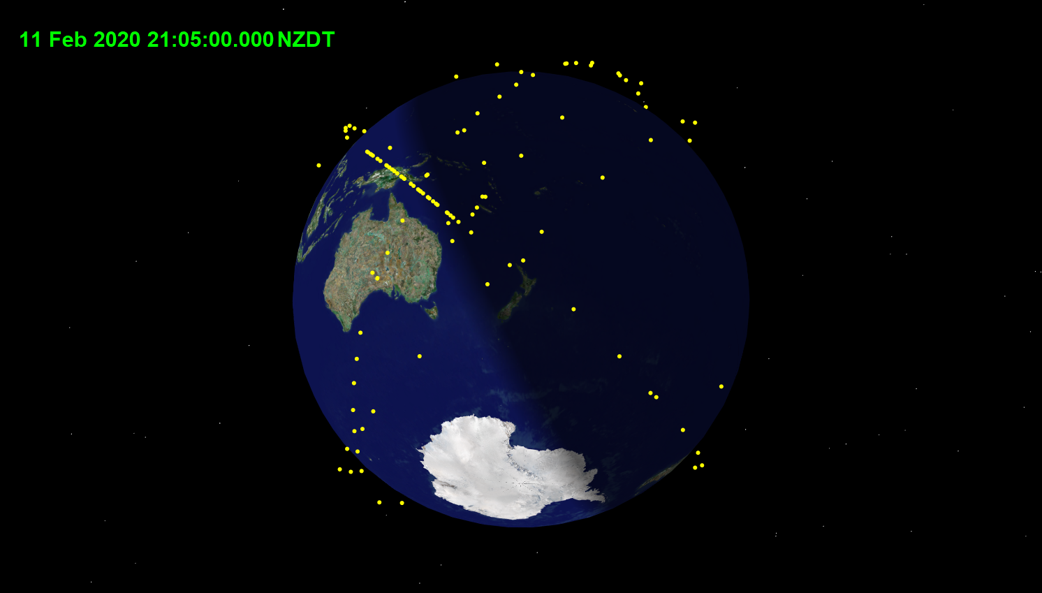 Featured image: Update on how to see the Space-X satellite chains from NZ