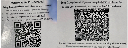 Two QR code options