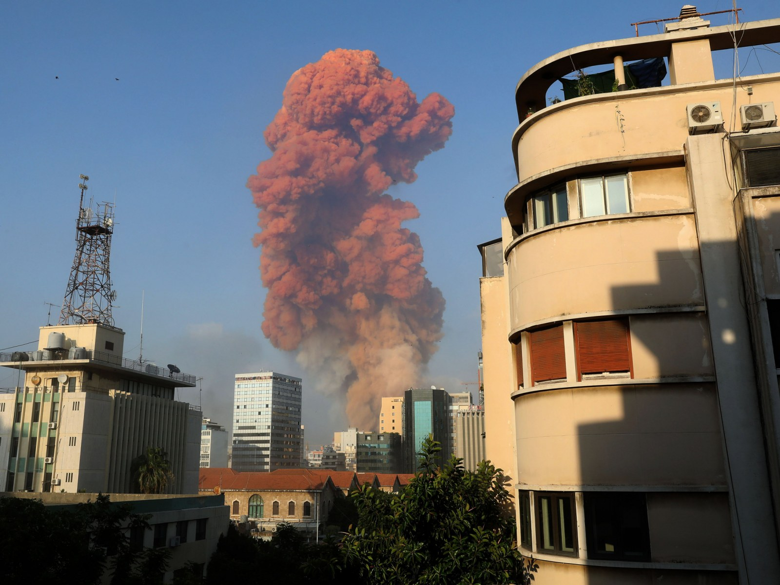 Featured image: The Beirut explosion shockwave