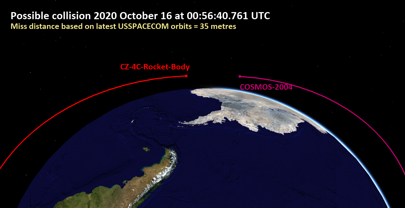 Image: Possible inter-satellite collision on Friday