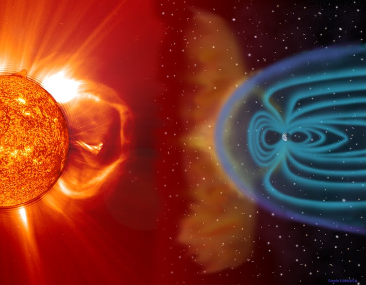 Image: How particles ejected from the Sun affect Earth's climate