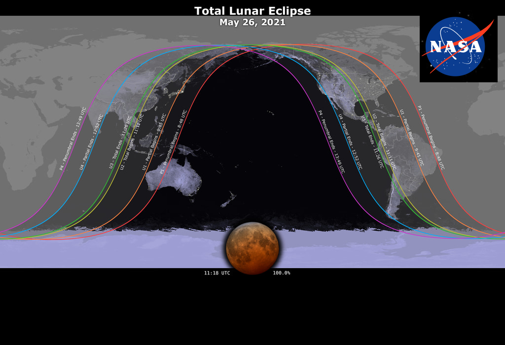 Featured image: Lunar eclipse on Wednesday