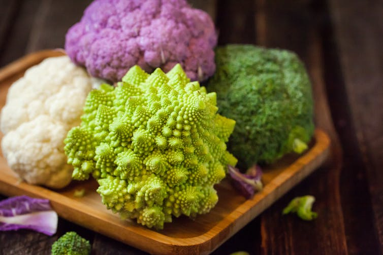 Featured image: Why do cauliflowers look so odd? We've cracked the maths behind their 'fractal'shape