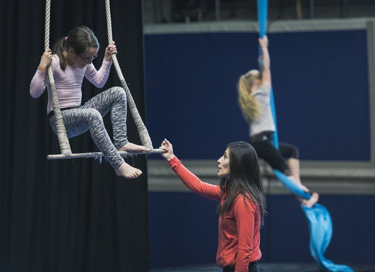 Featured image: Taking the circus to school: How kids benefit from learning trapeze, juggling and unicycle in gymclass