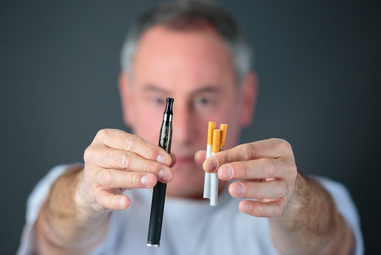 Featured image: E-cigarettes: misconceptions about their dangers may be preventing people from quittingsmoking
