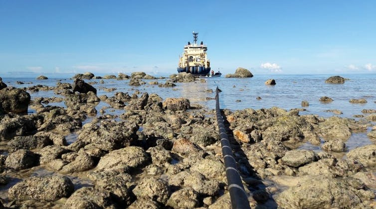 Featured image: Undersea internet cables connect Pacific islands to the world. But geopolitical tension is tugging at thewires