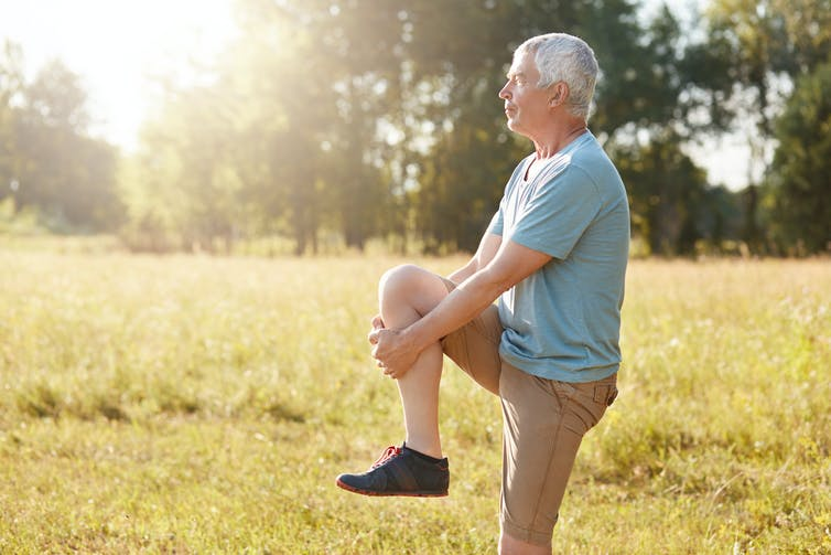 Featured image: Standing on one leg is a sign of good health – and practising is good for youtoo